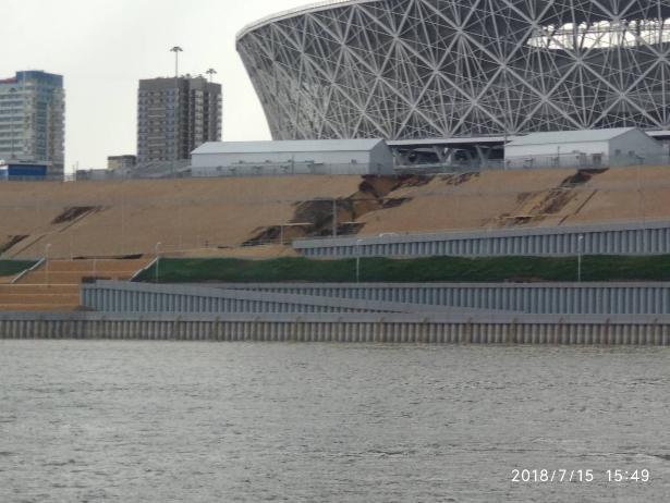 У стадиона «Волгоград Арена» смыло дорогу, построенную к ЧМ-2018
