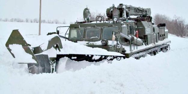 На границе Волгоградской области воинские части приведены в готовность из-за угрозы снежных заносов