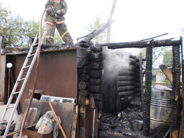 ВКамышинском районе сгорела придорожная баня