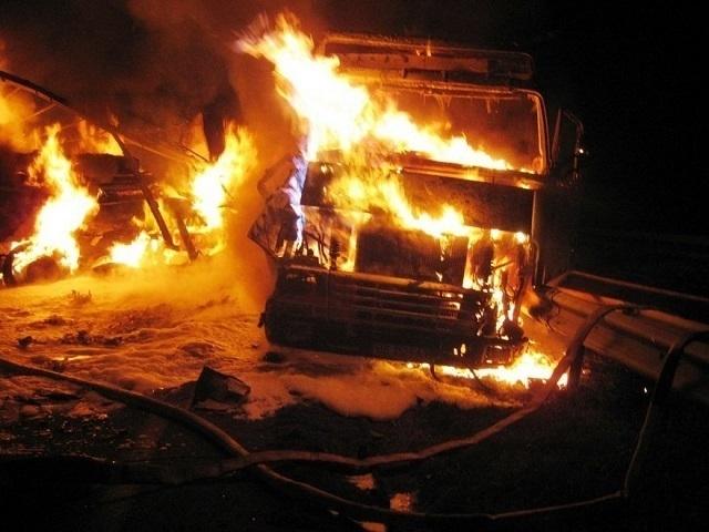 Натрассе вВолгоградской области сгорел грузовой автомобиль