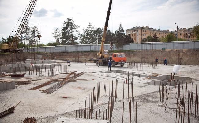 На стройлощадке храма Александра Невского завершен первый этап работ