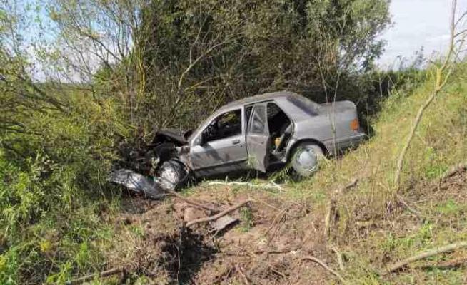 В Волгоградской области водитель Hyundai Solaris превысил скорость и вылетел в кювет
