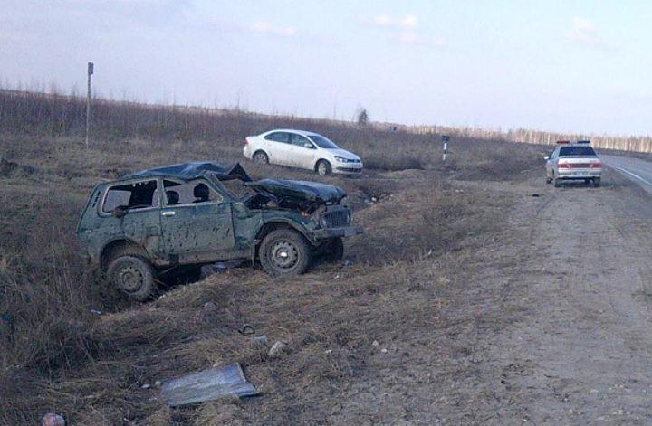 «Нива» перевернулась на дороге в Волгоградской области: погибла женщина