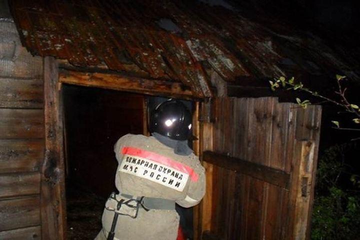 ВКлетском районе наместе пожара найден погибший мужчина