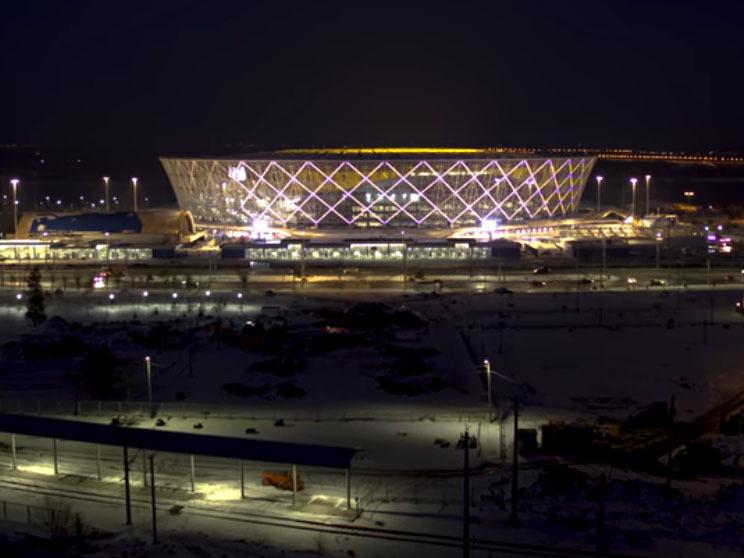 Настадионе «Волгоград Арена» протестировали новейшую подсветку