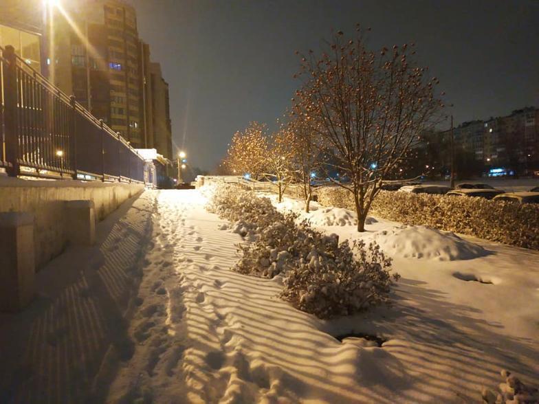 В первый день весны в Волгограде выпал снег