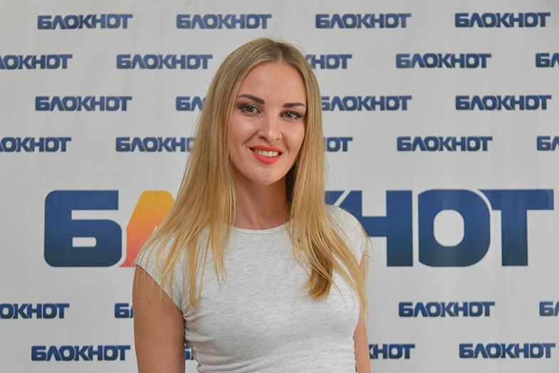 Эквилибристка Жанна Чижова в конкурсе «Мисс Блокнот-2019»