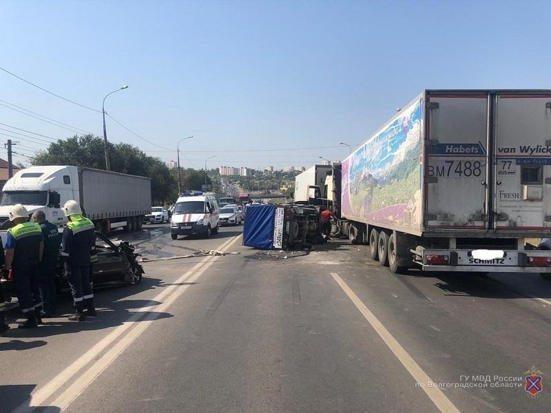 Подробности ДТП с пятью автомобилями и четырьмя пострадавшими в Волгограде