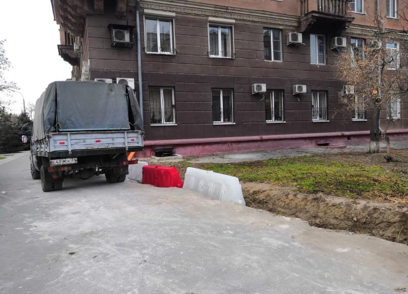 Бесследно исчезла чугунная ограда на улице Советской в Волгограде