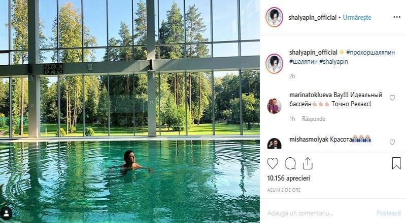 Прохор Шаляпин показал релакс в бассейне с окнами от пола до потолка