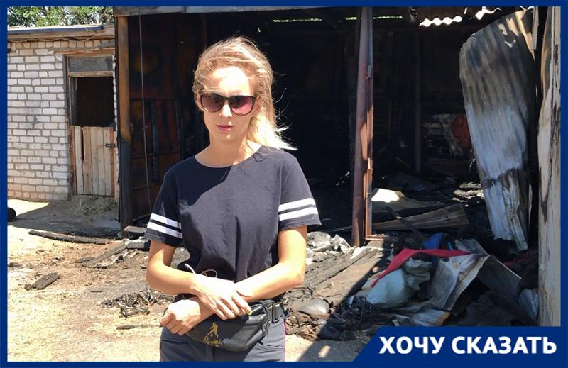 В конюшне, где сгорели 7 лошадей, найдена нефтесодержащая жидкость, – руководитель волжского конно-спортивного клуба Алла Сверчкова