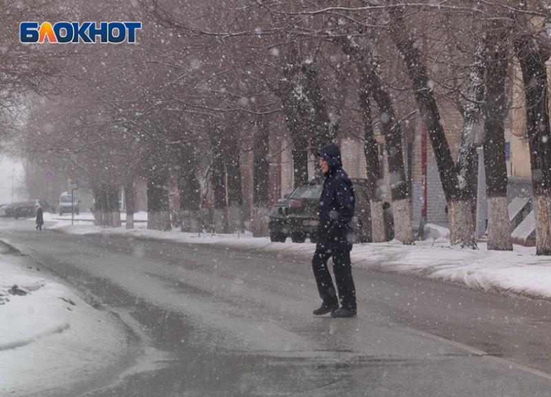 Сильный снегопад ожидается в Волгоградской области