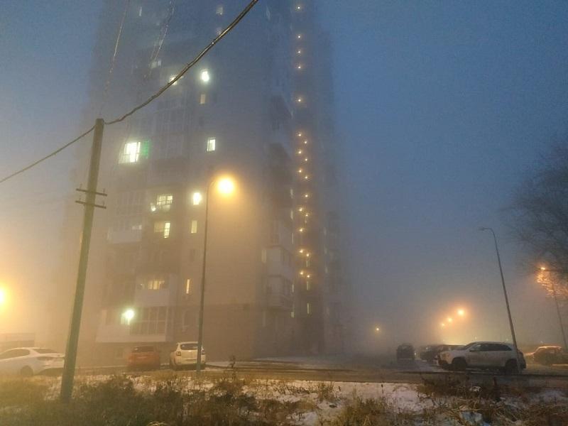 Волгоград накрыло густым туманом