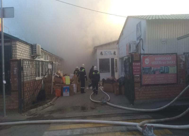 Названа официальная причина пожара на рынке «Олимпия» в Волгограде