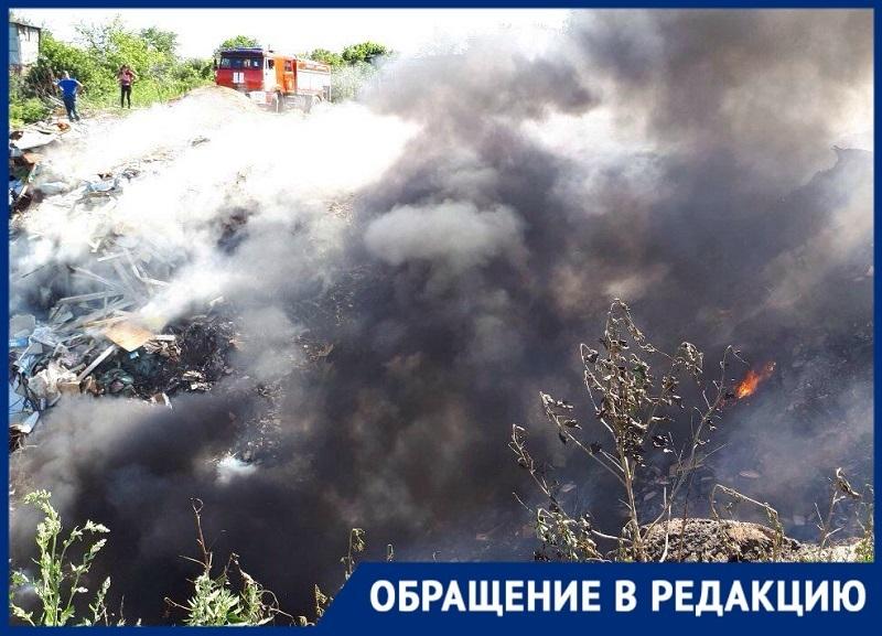 Дачники СНТ «Мичуринец» в Волгограде просят администрацию ликвидировать опасный мусорный полигон