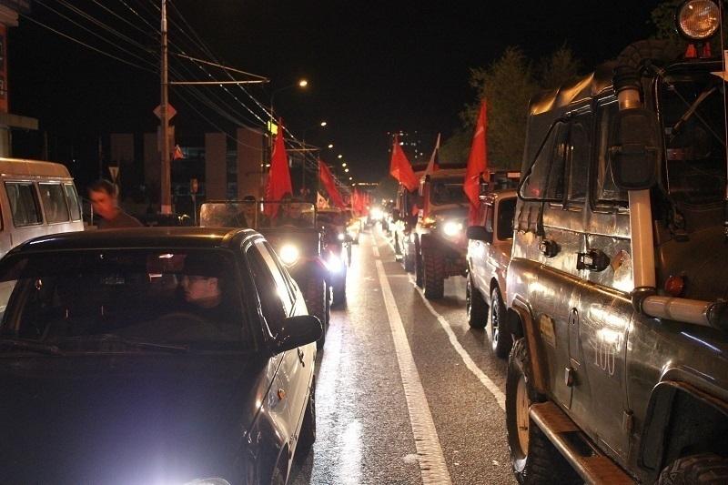 В Волгограде состоялся масштабный автопробег, посвященный Дню Победы