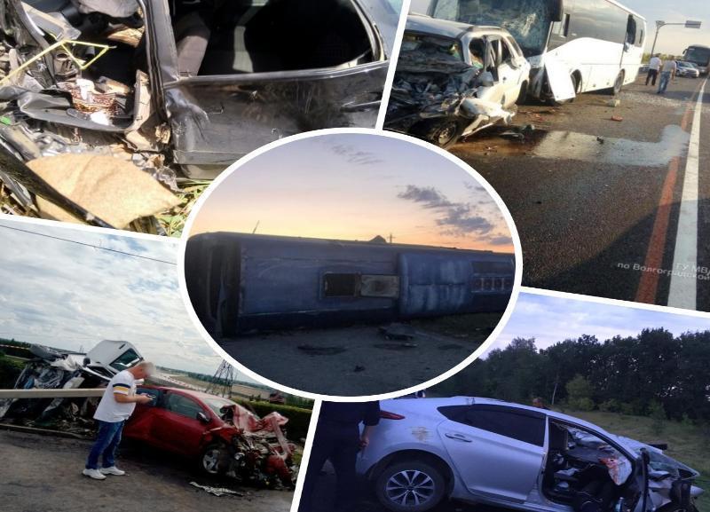 Топ-5 жутких ДТП, которые произошли за последний месяц в Волгоградской области