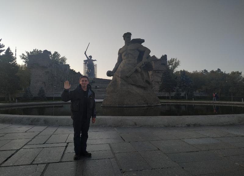 Пеший путешественник в Индию дошел до Волгограда