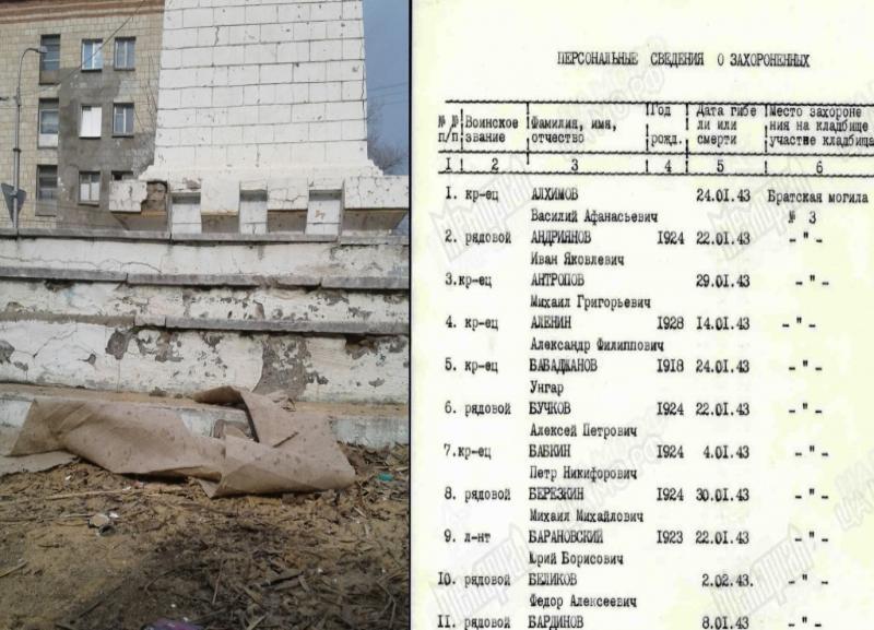 Впервые за 69 лет в Волгограде отремонтируют братскую могилу 45-й стрелковой дивизии