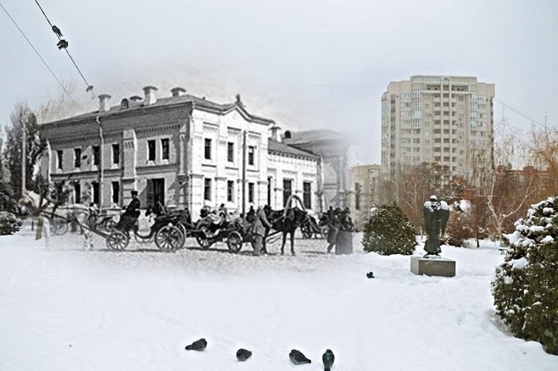 Тогда и сейчас: улица Княгининская в Царицыне стала сквером Саши Филиппова в Волгограде