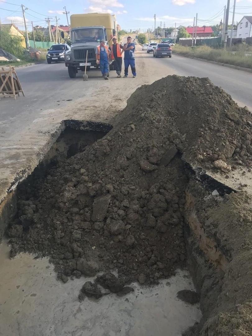 Жители Советского района Волгограда: ржавый водопровод портит новый асфальт