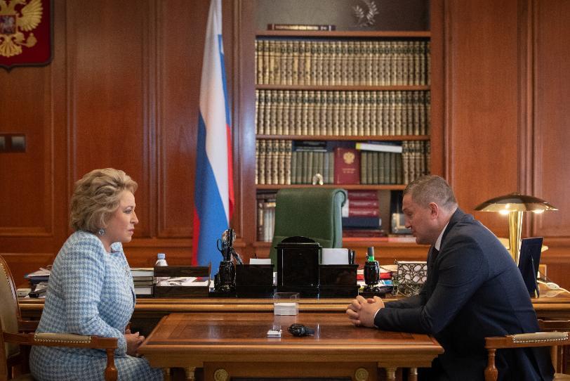 Андрей Бочаров со спикером Совета Федерации обсудил фамилии кандидатов в сенаторы