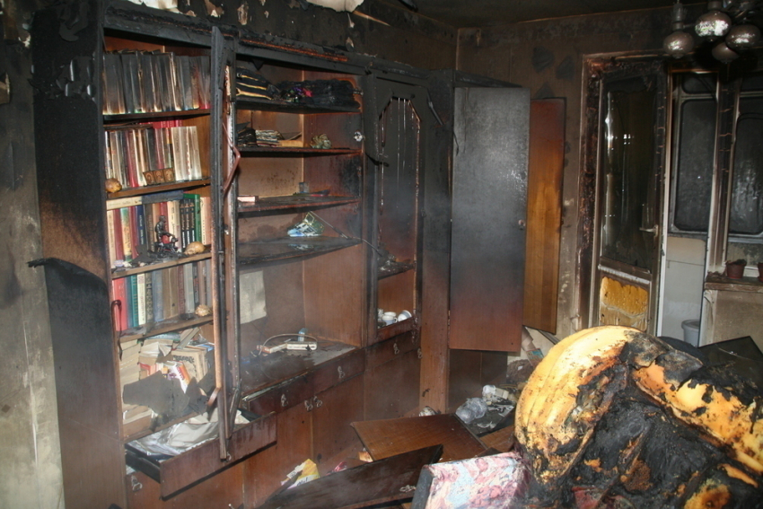 ВУрюпинске воднокомнатной квартире сгорел пенсионер