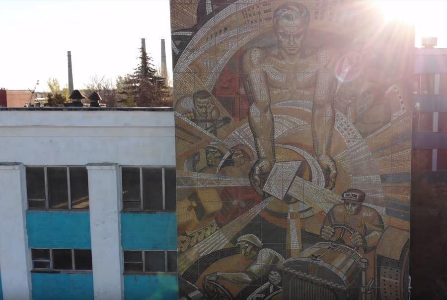 Волгоградский тракторный завод с высоты птичьего полета: полная разруха и руины