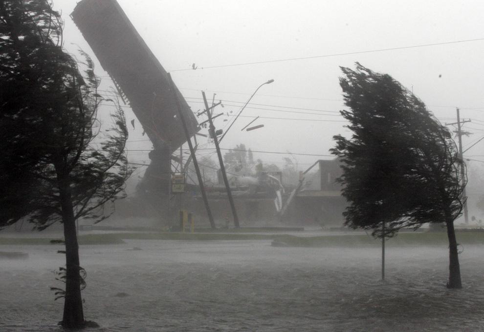 Ночной ураган вырывал деревья и бил стекла в Волгограде