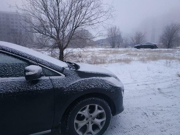 Снег и похолодание пришли в Волгоград