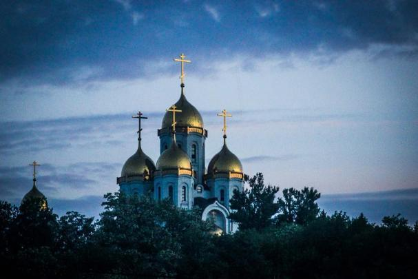 Над Волгоградом безоблачное небо