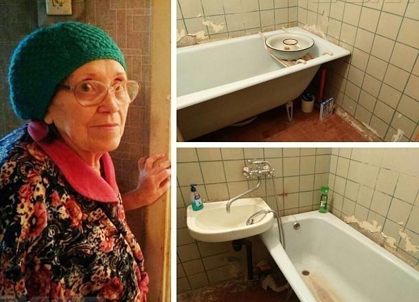 «Блокнот Волгограда» сделал капитальный ремонт ванной пенсионерки, пережившей ВОВ