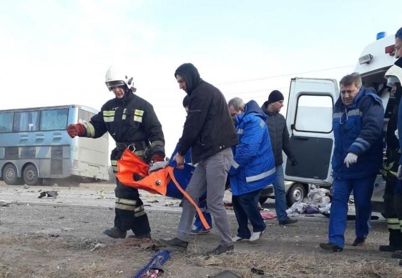 Опубликовано видео с места ДТП с погибшими пятилетними детьми под Волгоградом