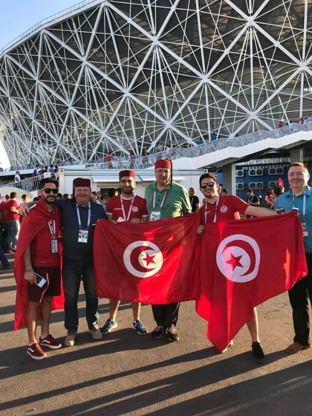 Известные волгоградцы опубликовали личные фото с матча Англия – Тунис