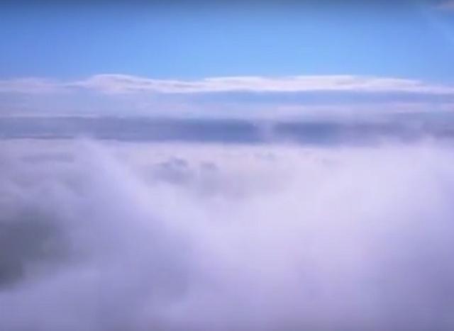 Волгоградец отправил свой квадрокоптер подглядывать за облаками