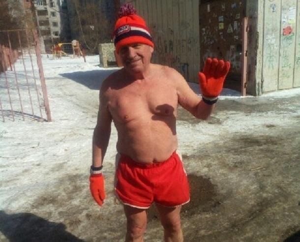 77-летний пенсионер в мороз пробежал дистанцию от Тулака до севера Волгограда