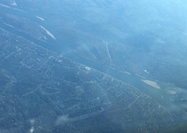 Пилот показал новую визитную карточку Волгограда из кабины самолета
