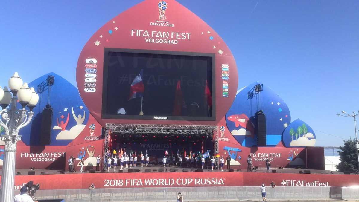 Фестиваль болельщиков стартовал на набережной Волгограда