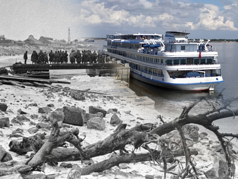 Тогда и сейчас: Красивый берег Волги некогда был последней надеждой сталинградцев на спасение