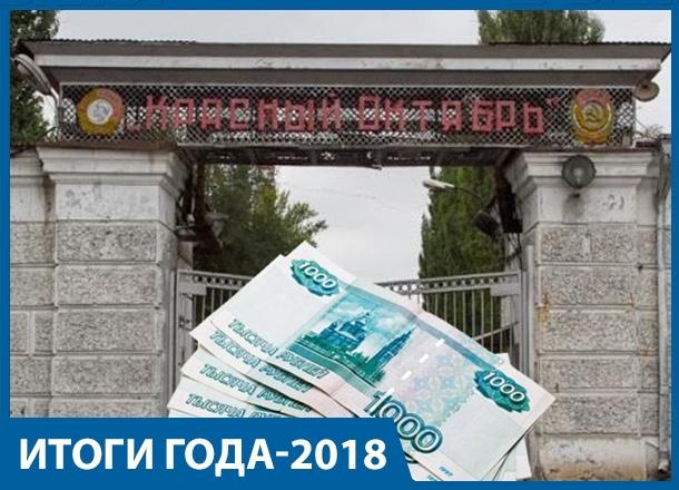 Банкротство завода «Красный Октябрь» и рост безработицы: итоги 2018 года