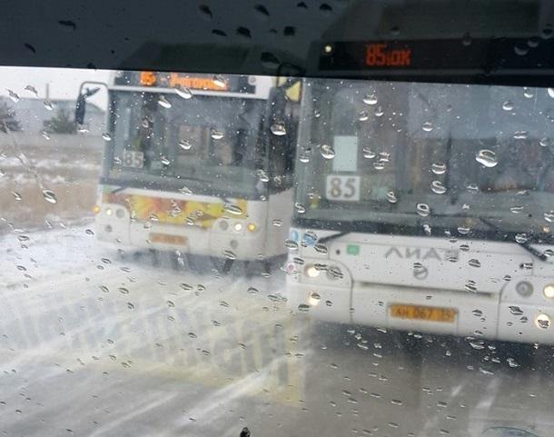 Автобусы «Питеравто» устроили гонку на «встречке» в Волгограде