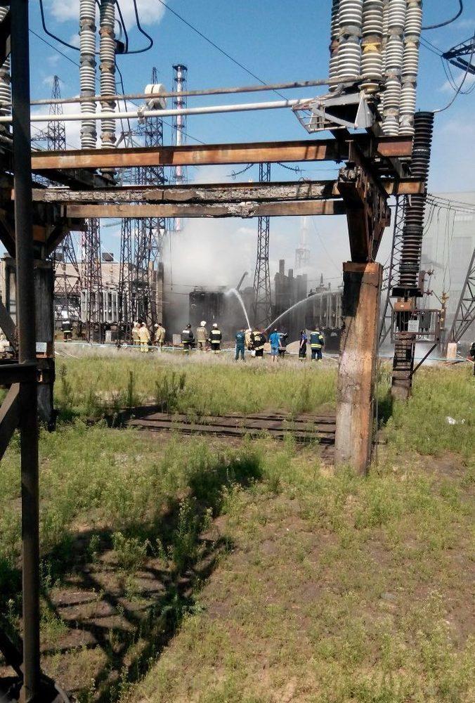 Пожар на трансформаторной подстанции Волгограда потушен