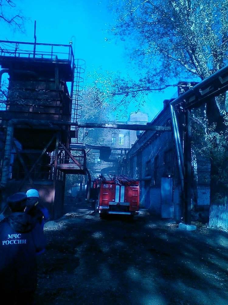 В Волгограде потушен пожар на заводе «Красный Октябрь»