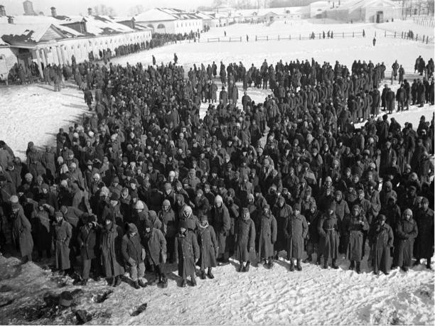 Сталинград 1943: красноармейцы расстреливают пленных немцев и отнимают одежду